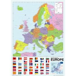 Politisk kort over Europa...