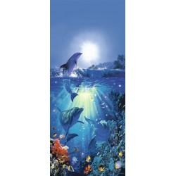 Delfin i solen - 86 x 200 cm