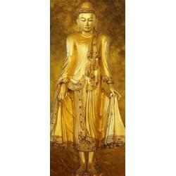 Stående Buddha - 86 x 200 cm