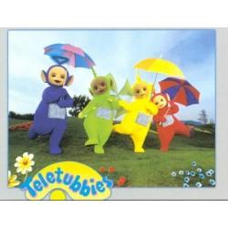 Teletubbies med paraplyer...