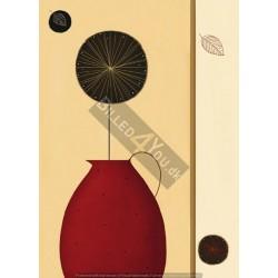 Rød kande - 183 x 254 cm (4...