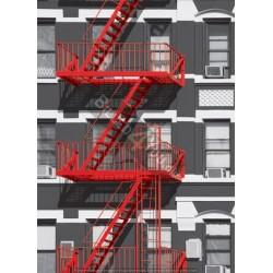 Rød brandtrappe - 183 x 254...